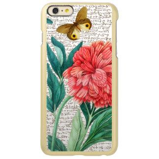 Capa Incipio Feather® Shine Para iPhone 6 Plus Caligrafia vermelha da peônia