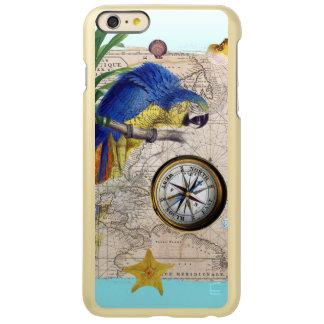 Capa Incipio Feather® Shine Para iPhone 6 Plus Colagem azul tropical