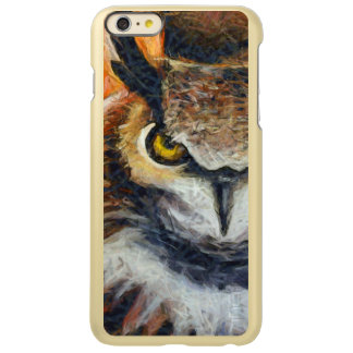 Capa Incipio Feather® Shine Para iPhone 6 Plus Coruja mal-humorada Horned grande