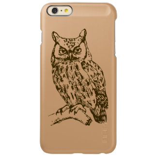 Capa Incipio Feather® Shine Para iPhone 6 Plus Grande coruja Horned
