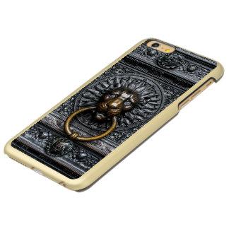 Capa Incipio Feather® Shine Para iPhone 6 Plus Leão de Doorknocker - preto/ouro