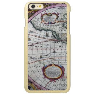 Capa Incipio Feather® Shine Para iPhone 6 Plus Mapas velhos de América