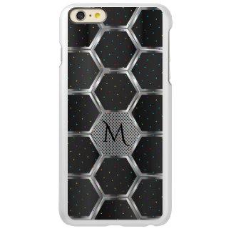 Capa Incipio Feather® Shine Para iPhone 6 Plus Obscuridade moderna - cinza & design geométrico de