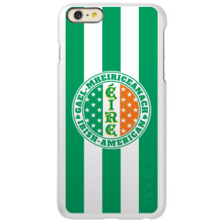 Capa Incipio Feather® Shine Para iPhone 6 Plus Orgulho americano irlandês - bandeira de Éire com