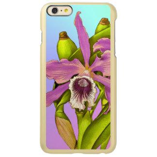 Capa Incipio Feather® Shine Para iPhone 6 Plus Orquídeas cor-de-rosa coloridas