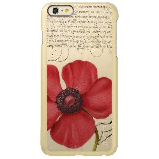 Capa Incipio Feather® Shine Para iPhone 6 Plus Papoila vermelha e o inseto