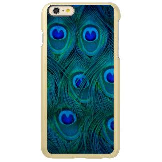 Capa Incipio Feather® Shine Para iPhone 6 Plus Pena parisiense do pavão do verde da cerceta do