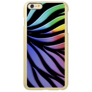 Capa Incipio Feather® Shine Para iPhone 6 Plus Preto dos doces do teste padrão do arco-íris