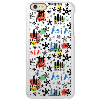 Capa Incipio Feather® Shine Para iPhone 6 Plus Teste padrão dos símbolos de Ásia |