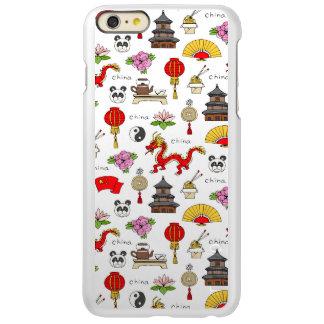 Capa Incipio Feather® Shine Para iPhone 6 Plus Teste padrão dos símbolos de China