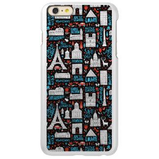 Capa Incipio Feather® Shine Para iPhone 6 Plus Teste padrão dos símbolos de France |