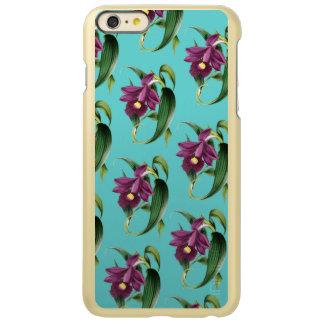 Capa Incipio Feather® Shine Para iPhone 6 Plus Teste padrão roxo da cerceta das orquídeas