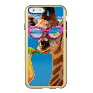 Capa Incipio Feather® Shine Para iPhone 6 Praia do girafa - girafa engraçado