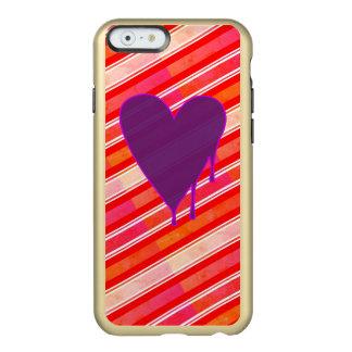 Capa Incipio Feather® Shine Para iPhone 6 Roxo de derretimento do coração