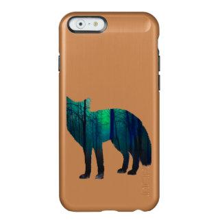 Capa Incipio Feather® Shine Para iPhone 6 Silhueta do Fox - raposa da floresta - arte da