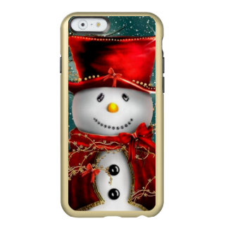 Capa Incipio Feather® Shine Para iPhone 6 Snowmans bonitos - ilustração do boneco de neve