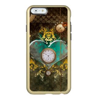 Capa Incipio Feather® Shine Para iPhone 6 Steampunk, coração maravilhoso com pulsos de