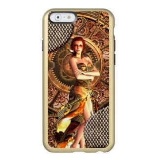 Capa Incipio Feather® Shine Para iPhone 6 Steampunk, mulheres bonitas do vapor com pulsos de