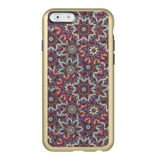 Capa Incipio Feather® Shine Para iPhone 6 Teste padrão floral étnico abstrato colorido da