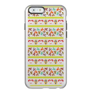 Capa Incipio Feather® Shine Para iPhone 6 Teste padrão psicótico da páscoa colorido