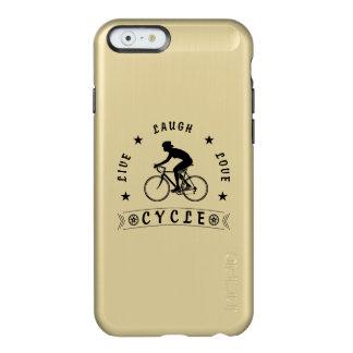 Capa Incipio Feather® Shine Para iPhone 6 Texto da Vida Riso Amor Ciclo da senhora (preto)