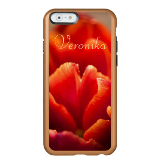 Capa Incipio Feather® Shine Para iPhone 6 Tulipa vermelha