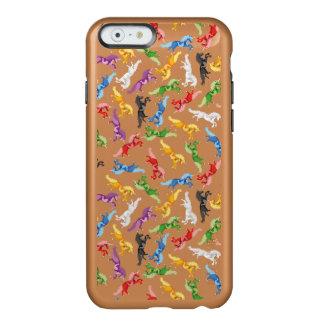 Capa Incipio Feather® Shine Para iPhone 6 Unicórnio colorido do teste padrão
