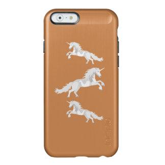 Capa Incipio Feather® Shine Para iPhone 6 Unicórnio do branco da ilustração