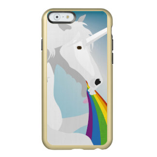 Capa Incipio Feather® Shine Para iPhone 6 Unicórnios puking da ilustração