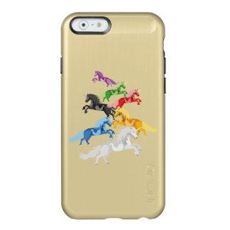Capa Incipio Feather® Shine Para iPhone 6 Unicórnios selvagens coloridos da ilustração