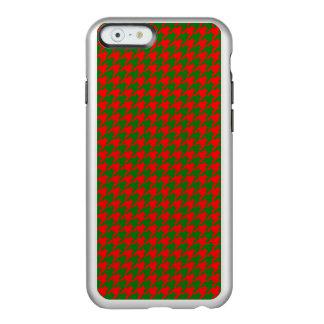 Capa Incipio Feather® Shine Para iPhone 6 Verificação vermelha e verde do Natal clássico de