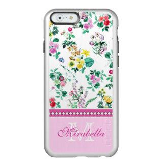Capa Incipio Feather® Shine Para iPhone 6 Wildflowers & rosas amarelos vermelhos roxos
