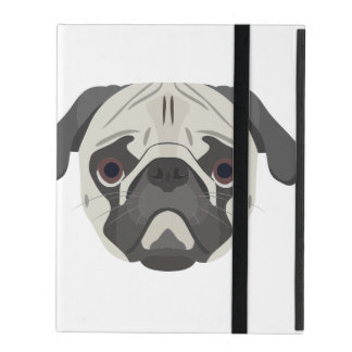 Capa iPad A ilustração persegue o Pug da cara