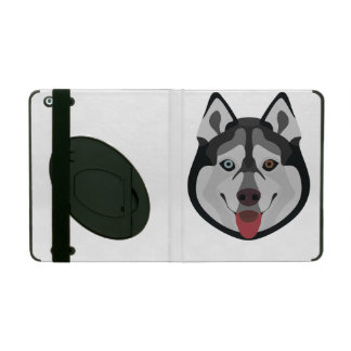Capa iPad A ilustração persegue o rouco Siberian da cara