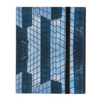 Capa iPad Abstrato azul da cidade