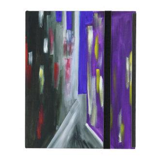 Capa iPad Abstrato moderno colorido da cidade urbano