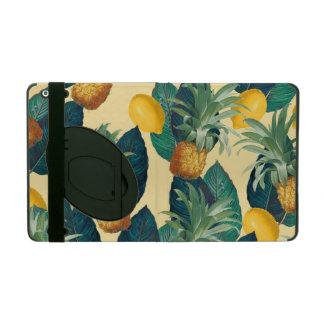 Capa iPad amarelo dos limões dos abacaxis
