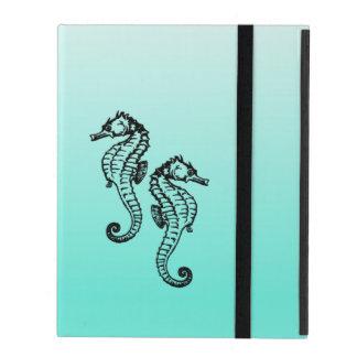 Capa iPad Aqua dos cavalos marinhos