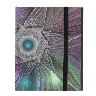 Capa iPad Arte moderna abstrata colorida do Fractal de