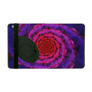Capa iPad Ascensão de uma flor Vermilion da espiral do