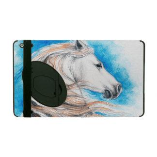 Capa iPad Azul andaluz do cavalo
