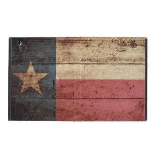 Capa iPad Bandeira do estado de Texas na grão de madeira