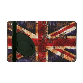 Capa iPad Bandeira patriótica oxidada de Reino Unido