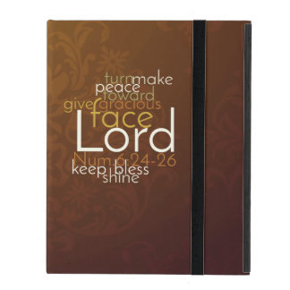 Capa iPad Bênção sacerdotal no damasco de cobre de Brown