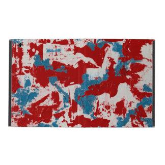 Capa iPad Brushstrokes vermelhos, brancos e azuis