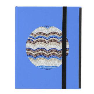 Capa iPad Caixa azul redonda do iPad 2/3/4 do mosaico