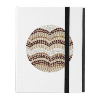 Capa iPad Caixa bege redonda do iPad 2/3/4 do mosaico
