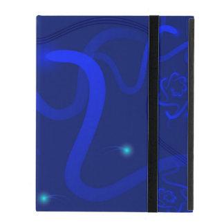 Capa iPad caixa para as tabuletas azuis escuro