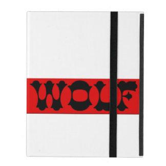 Capa iPad Caixa vermelha do iPad da caixa do logotipo do