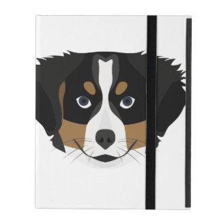 Capa iPad Cão de montanha de Bernese da ilustração